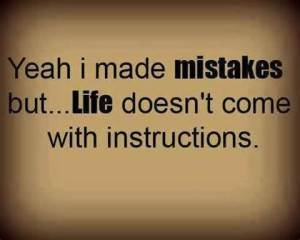 making mistakes