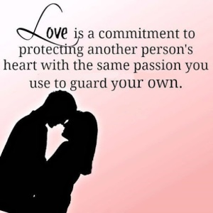 Love is about commitment